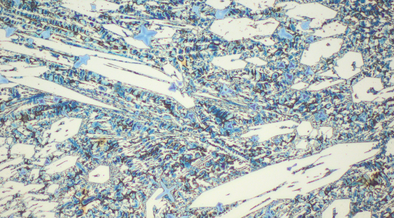 Typical microstructure VAUTID wear plate 145