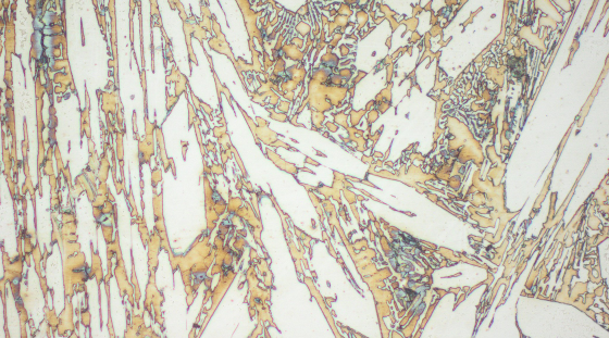 Typical microstructure VAUTID wear plate 100 T